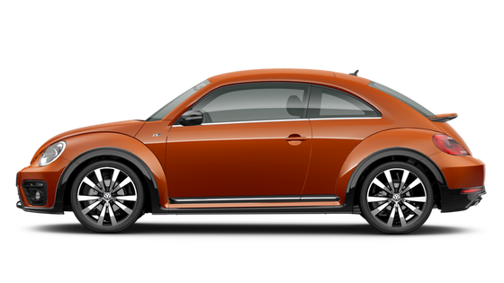 vw volkswagen beetle habanero orange coupe